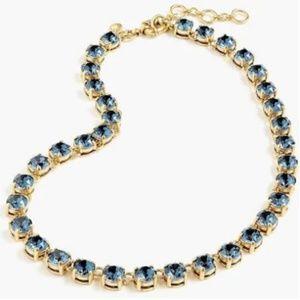 J. Crew Blue Swarovski Crystal Necklace